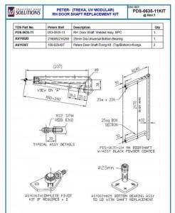 PDS-0635-11KIT Replacement Treka UVM Doorshaft